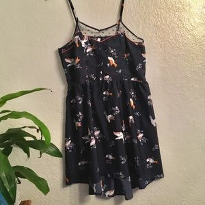 Navy Blue Bird Dress 👗 XXL